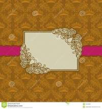 Template Frame Design For Greeting Card . Royalty Free ...