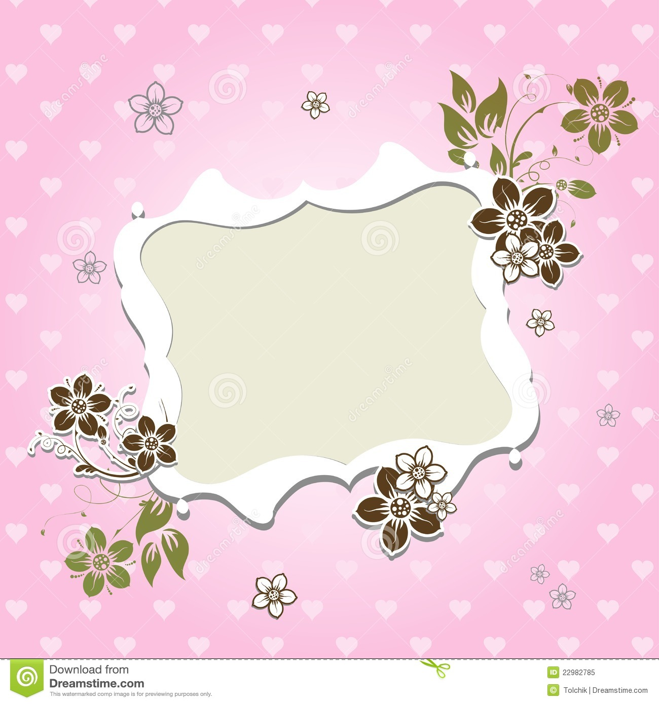 Template Greeting Card Royalty Free Stock Photo Image
