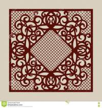 Template For Laser Cutting Decorative Panel Cartoon Vector ...