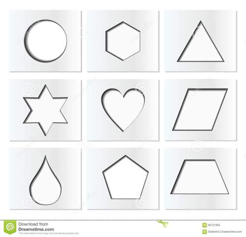 small resolution of template for simple geometric shapes with inner shadow circle hexagon triangle star