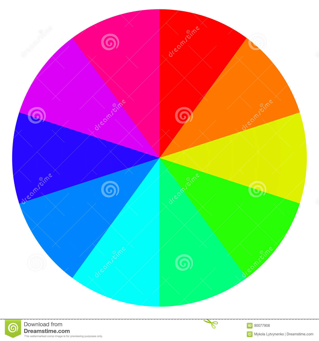 Template Wheel Fortune Color Palette Vector Stock Vector