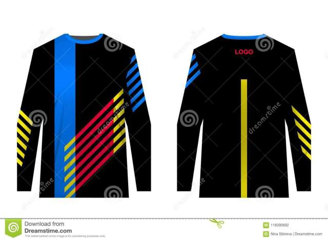 MTB jersey templates stock vector. Illustration of cycle ...