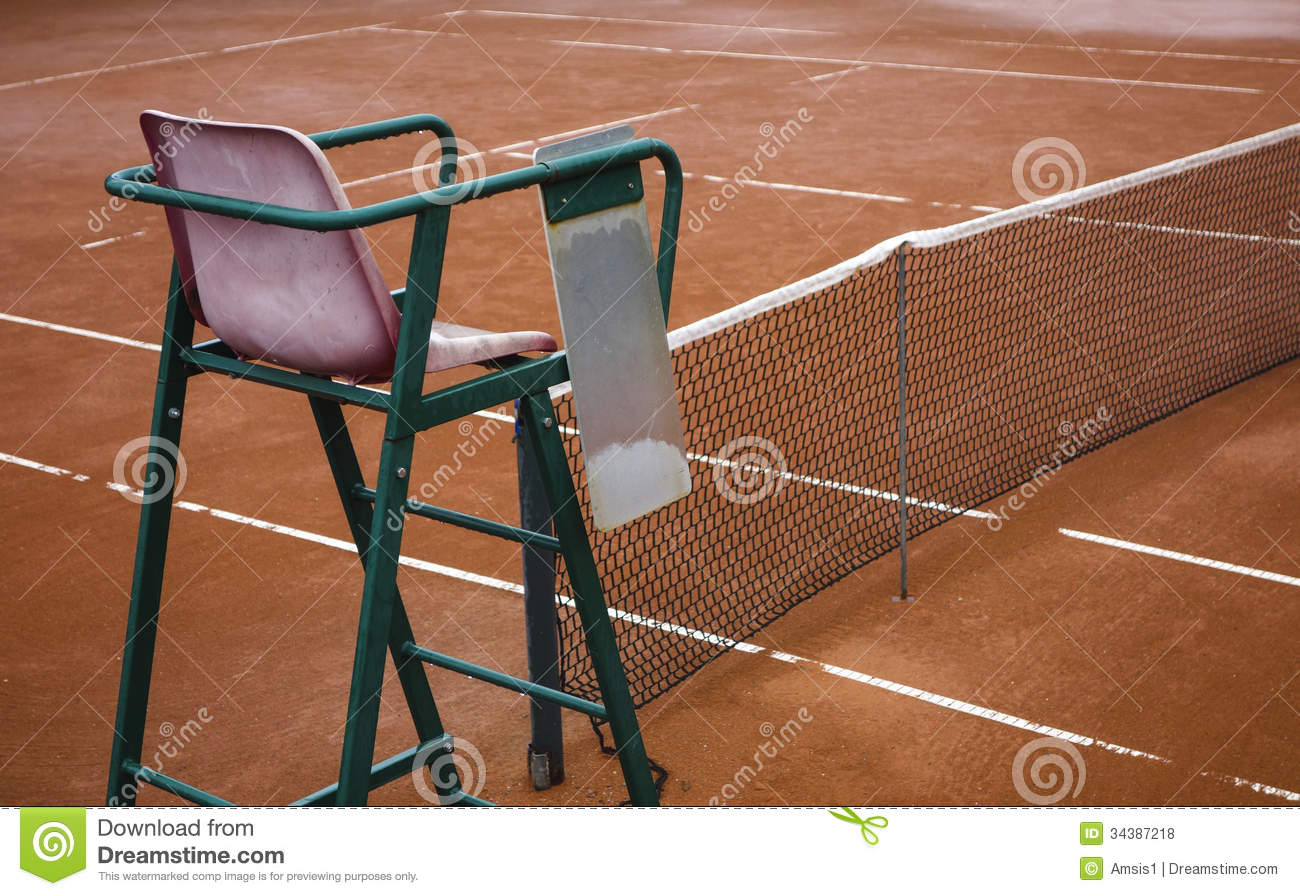 tennis umpire chair hire reclining video game chairs clay court royalty free stock photos