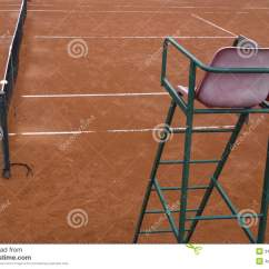 Tennis Umpire Chair Hire Cool Teen Chairs Clay Court Royalty Free Stock