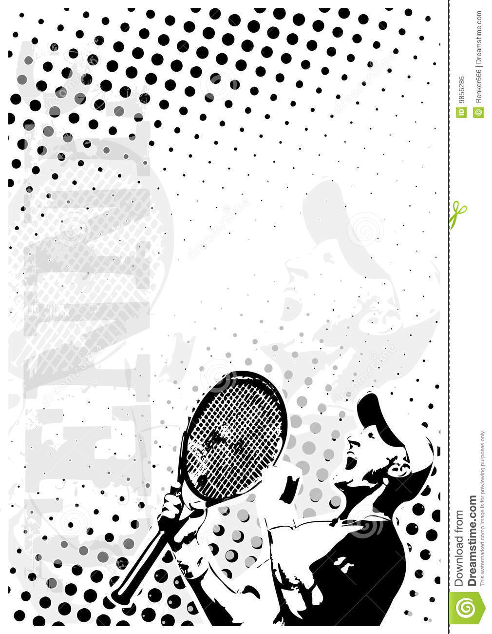 Tennis Dots Poster Background Royalty Free Stock Image