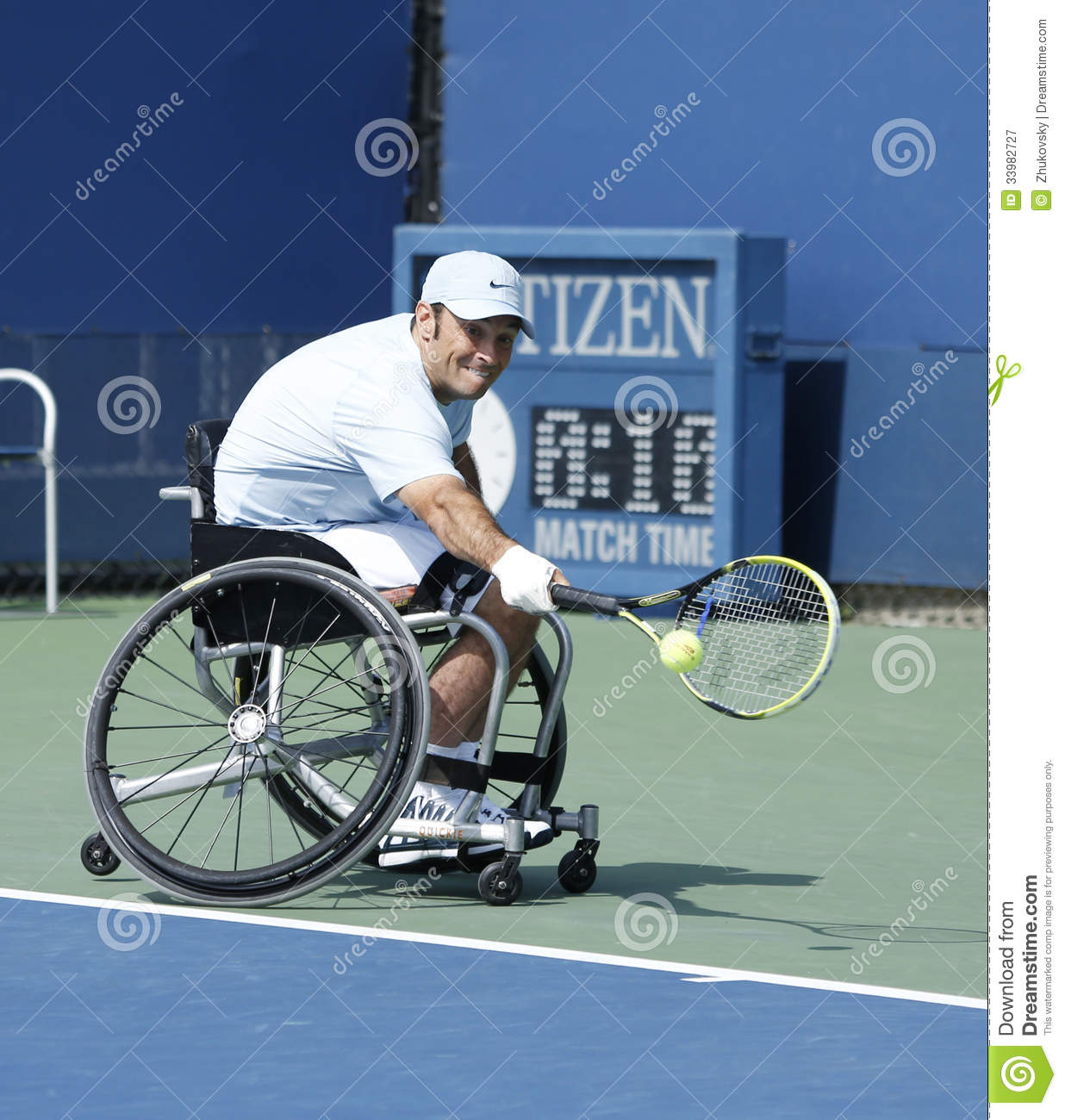 wheelchair quad ruched chair covers canada tennis player david wagner from usa during his us open