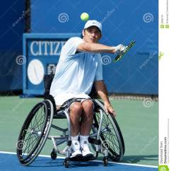 Wheelchair Quad Oval Dining Chairs Tennis Player David Wagner From Usa During His Us Open