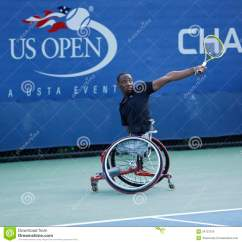 Wheelchair Quad Grey Dining Table And Chairs Tennis Player Lucas Sithole From South Africa During Us Open 2013 Flushing Ny September 8 Singles Match At Billie Jean King National
