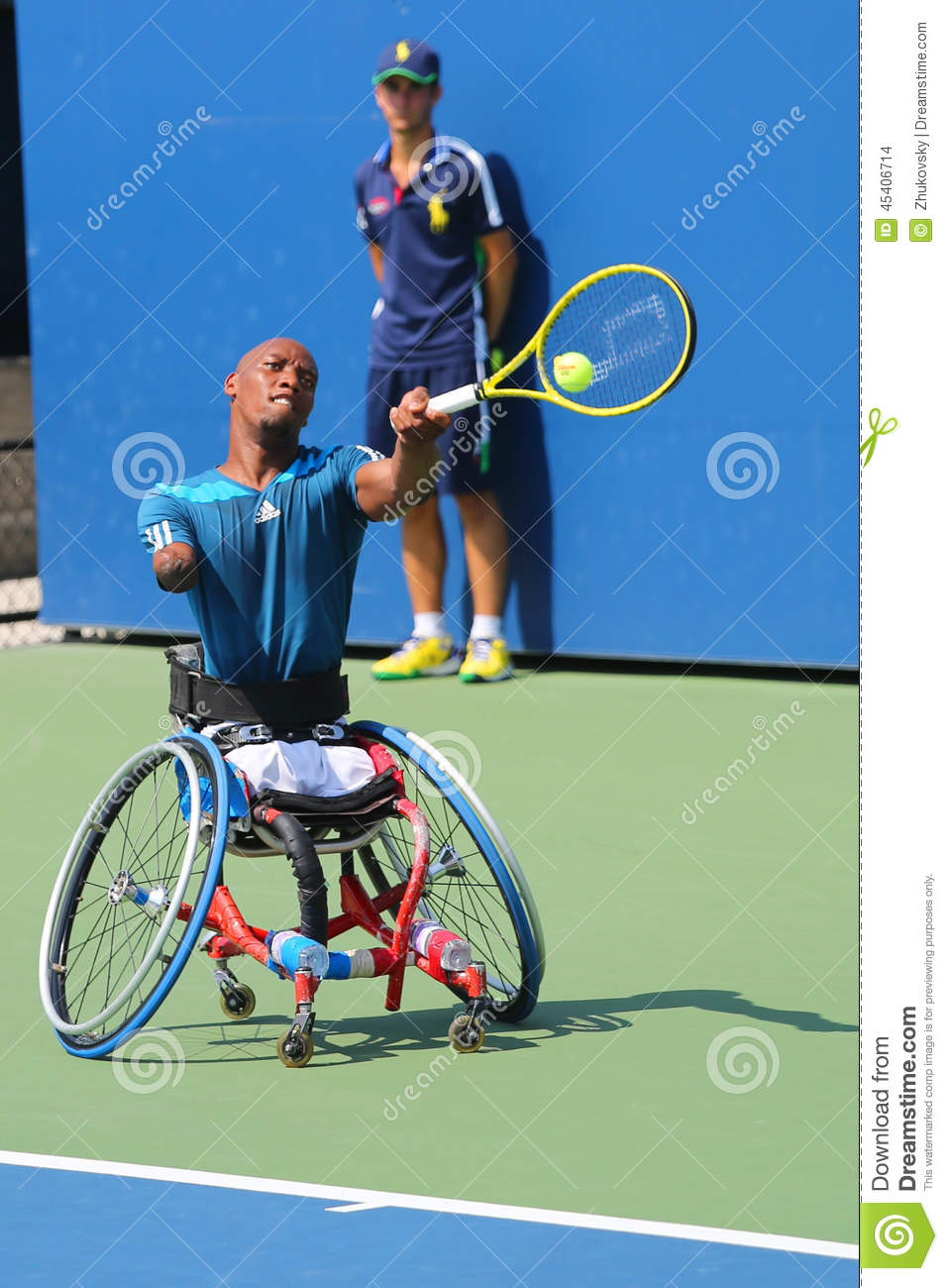 wheelchair quad dining chair pads tennis player lucas sithole from south africa during us open 2014 new york september 6 singles match at billie jean king national