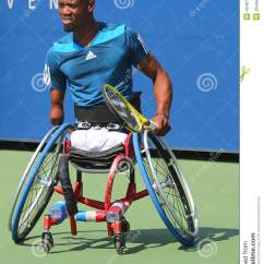 Wheelchair Quad Hans Wegner Wing Chair Tennis Player Lucas Sithole From South Africa During Us Open 2014 New York September 6 Singles Match At Billie Jean King National
