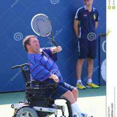 Wheelchair Quad Portable Back Support Chairs For Sitting On Floor Tennis Player Nicholas Taylor From United States During Us Open 2014 New York September 6 Singles Match At Billie Jean King National