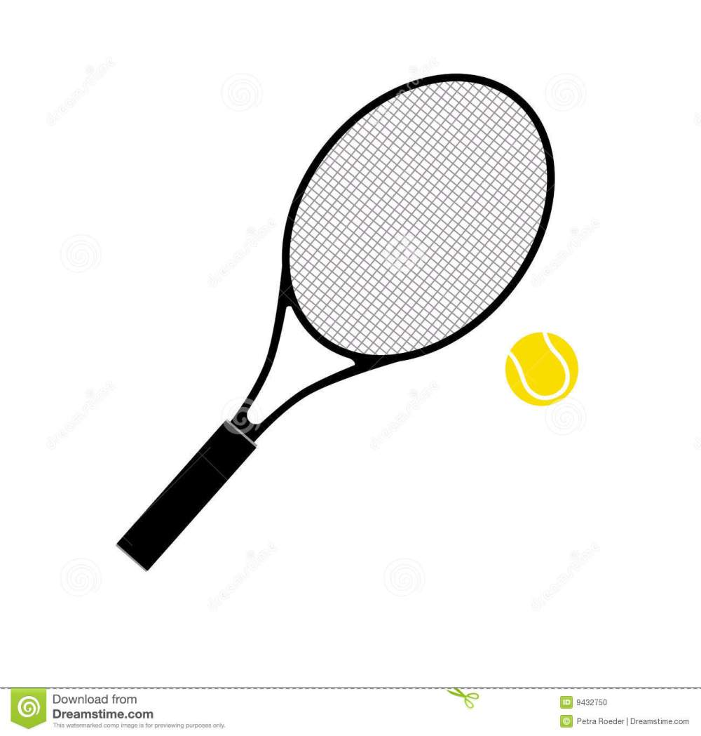 medium resolution of  tennis racket and ball stock photo image 9432750 tennis racquet clip art no background
