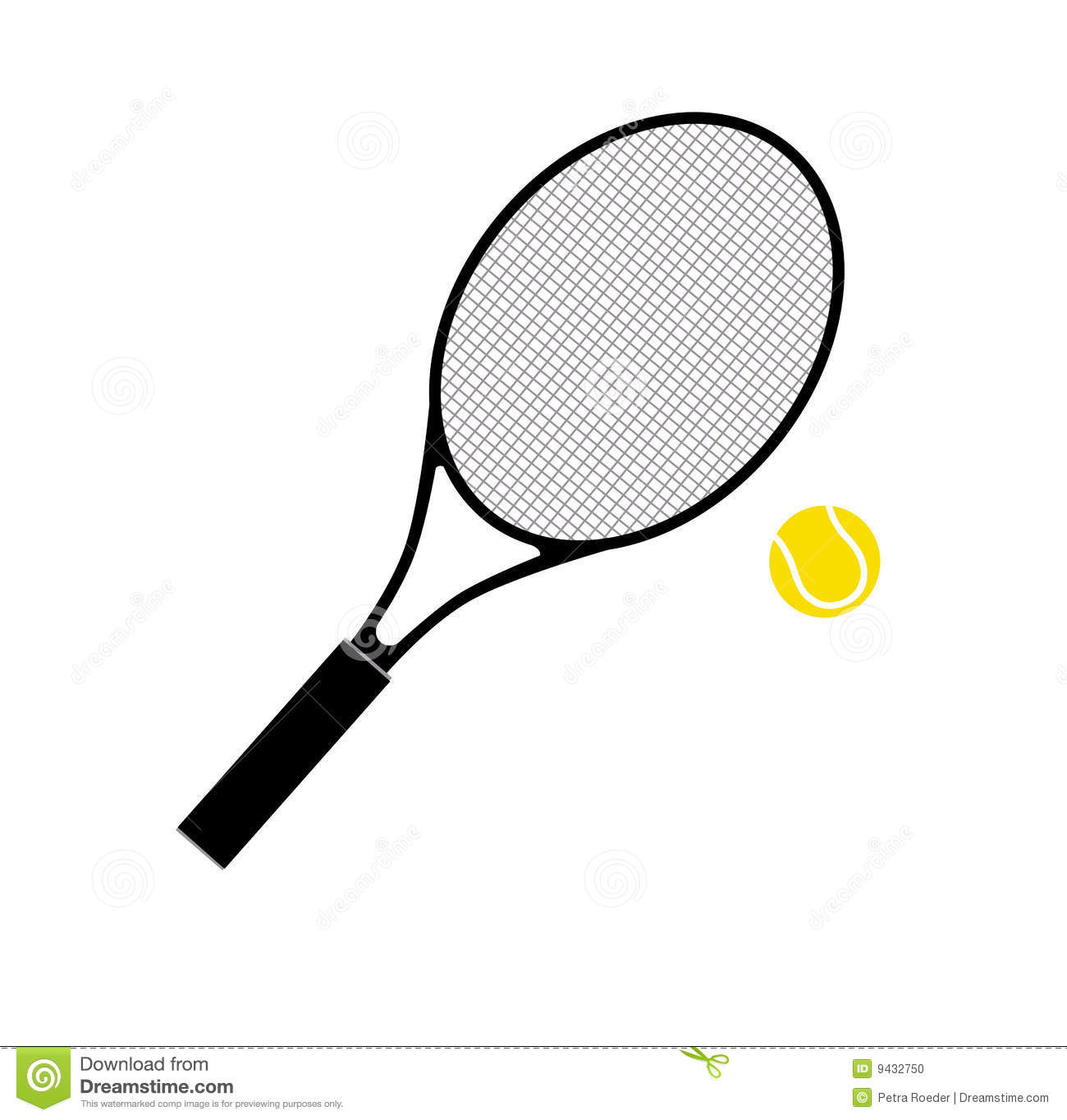 hight resolution of  tennis racket and ball stock photo image 9432750 tennis racquet clip art no background