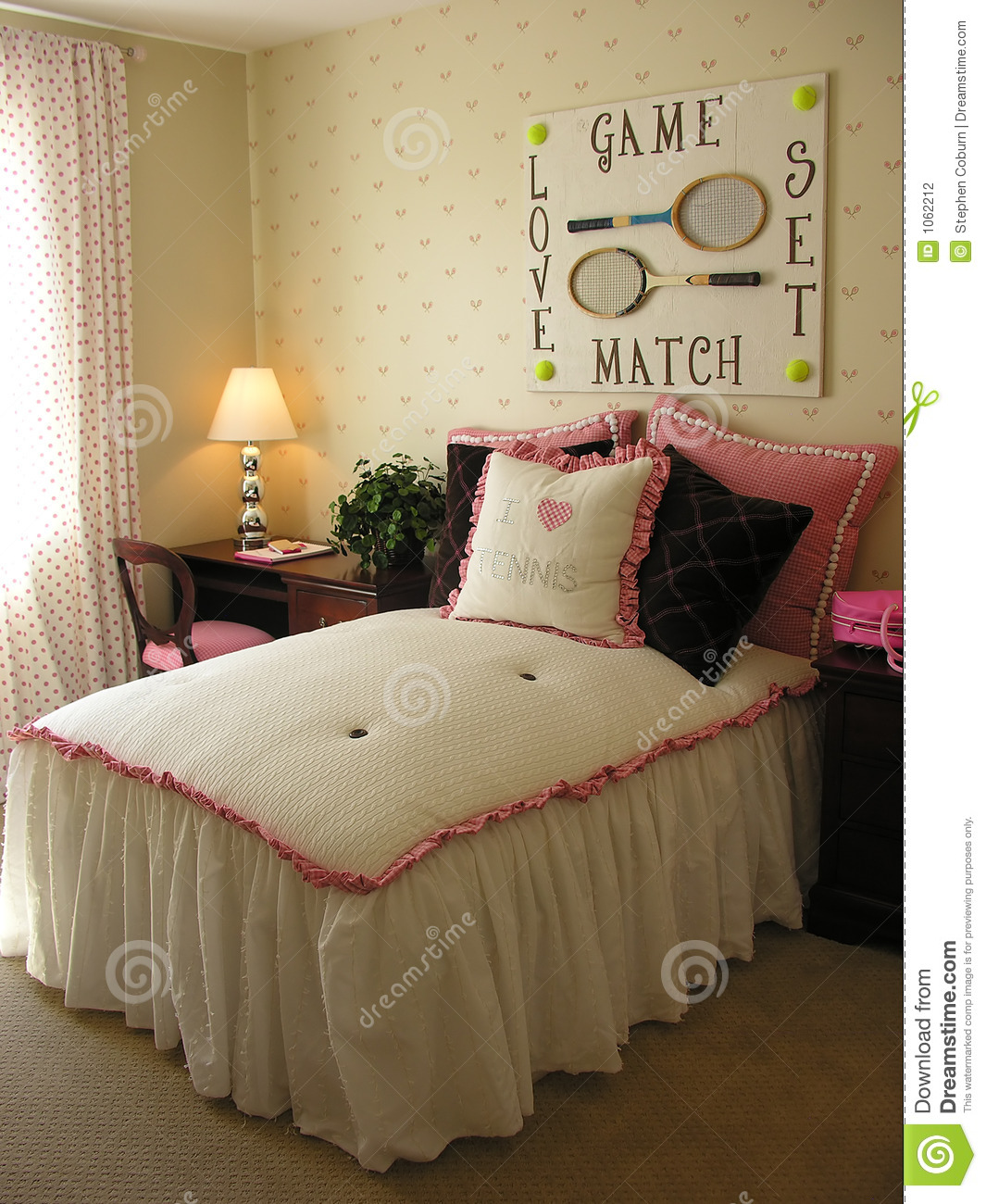 Tennis Themed Bedroom Stock Photography  Image 1062212