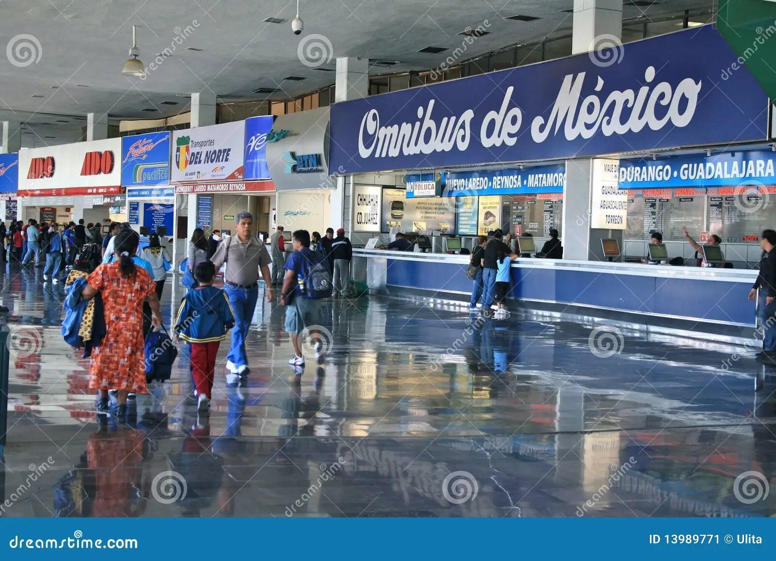 Terminal Central Del Norte Mexico City Editorial Photo