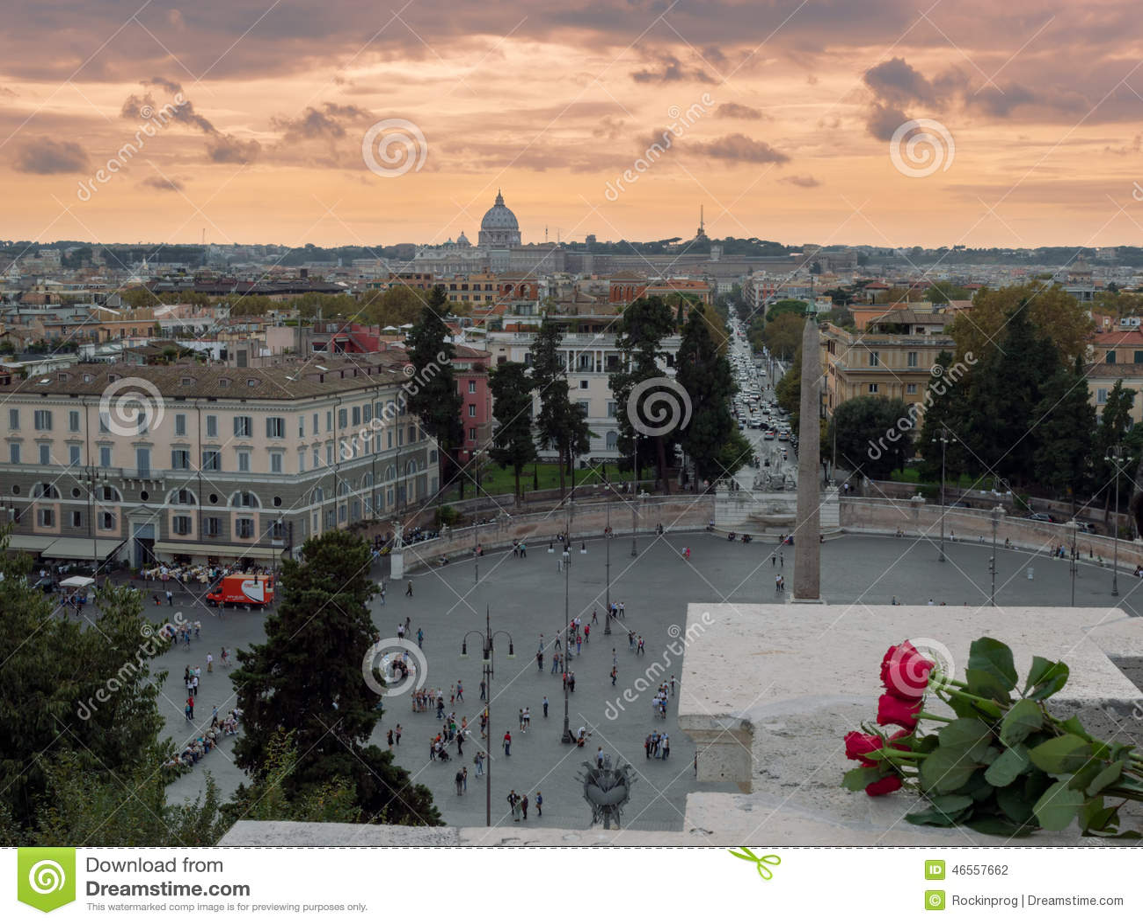 Terrazza del Pincio fotografia editoriale Immagine di