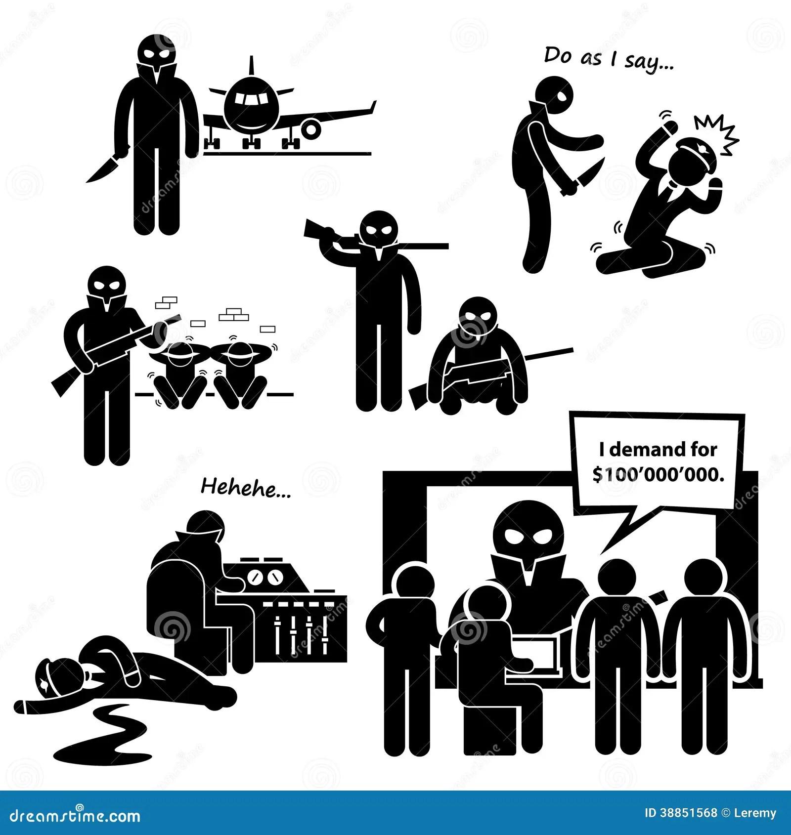 A Airplane Clipart Del Secuestrador Ilustracion