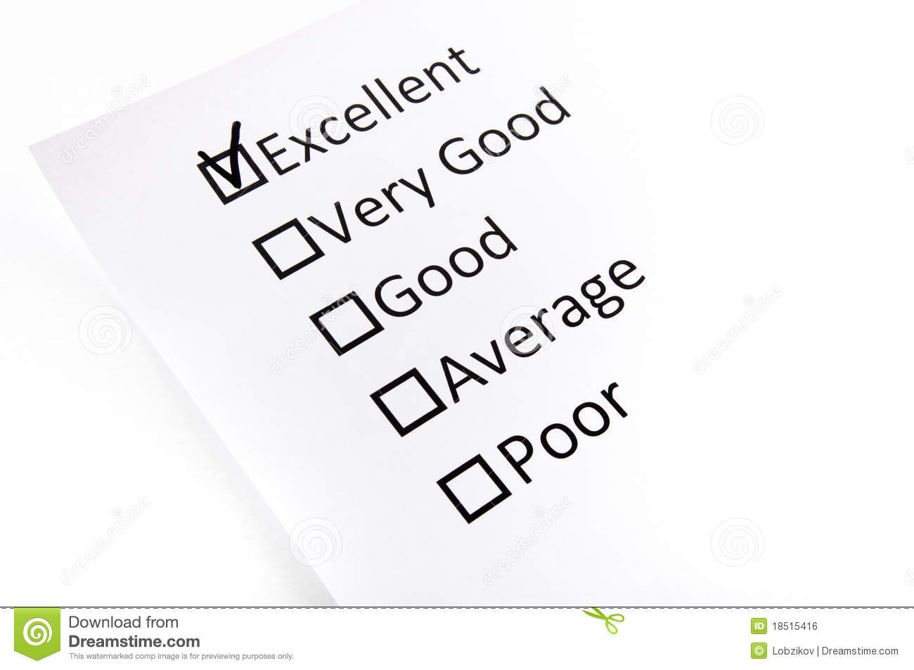 Test Check Boxes With The Black Mark Stock Photo
