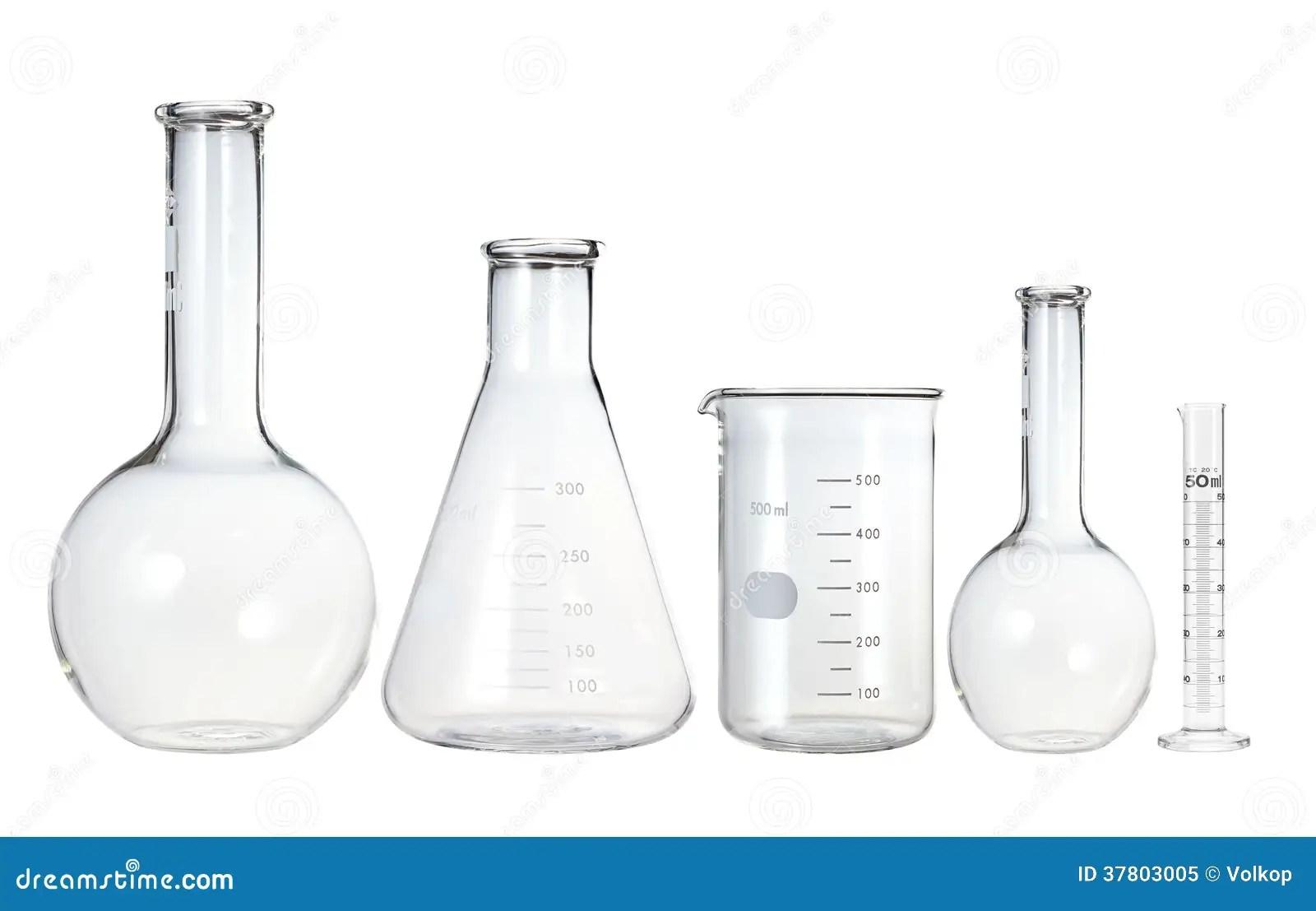 Test Tubes Isolated On White Laboratory Glassware Royalty Free Stock Photo