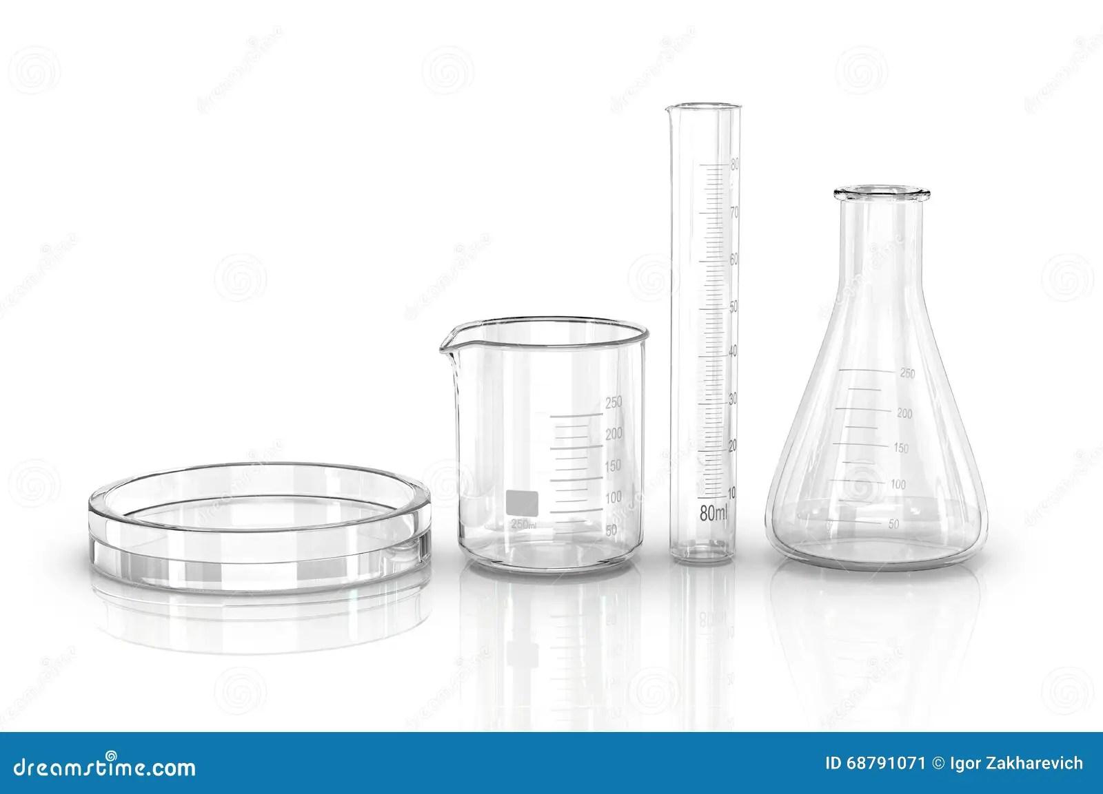 Test Tubes Isolated On White Stock Image