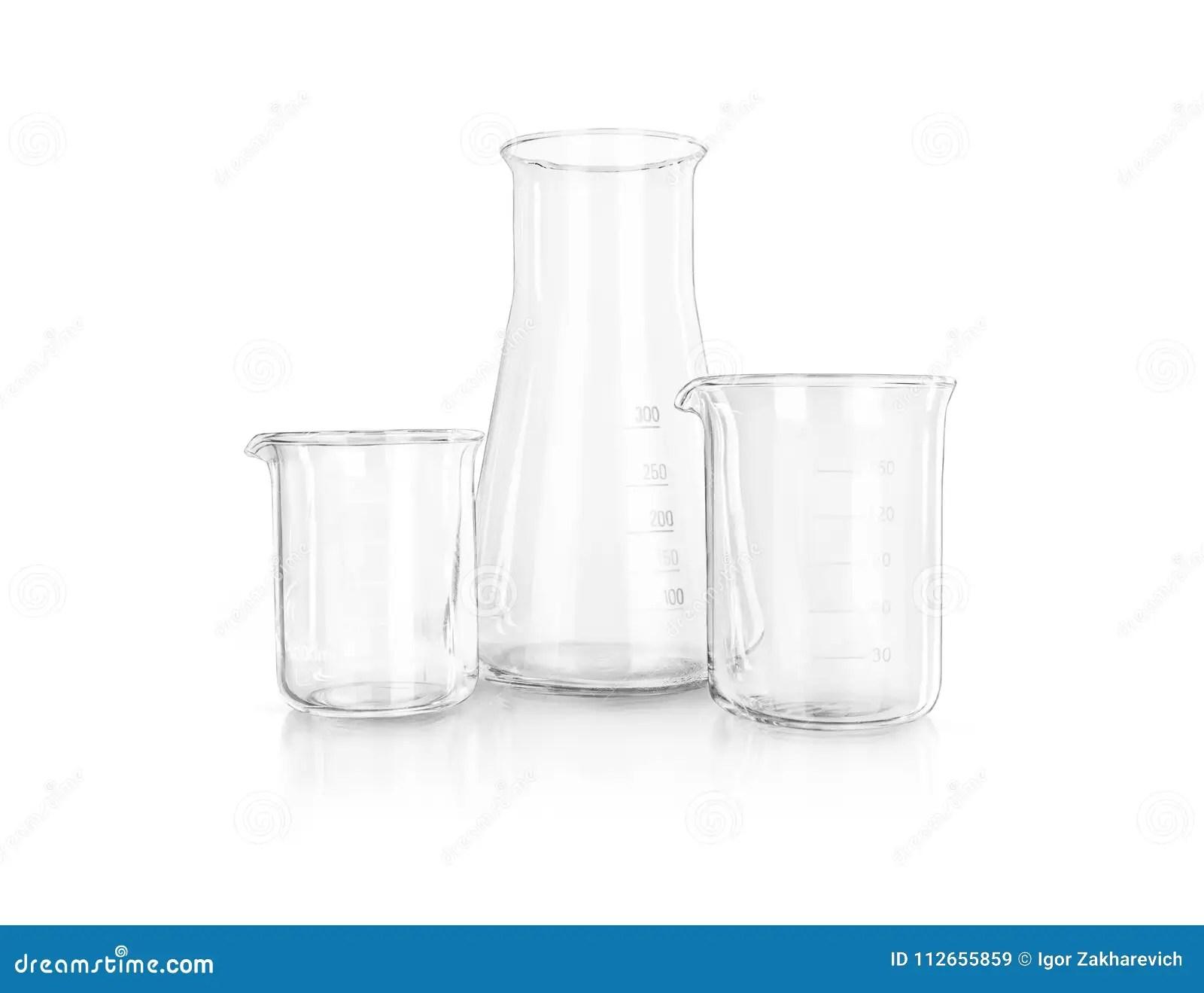 Test-tubes Isolated. Laboratory Glassware Stock Image