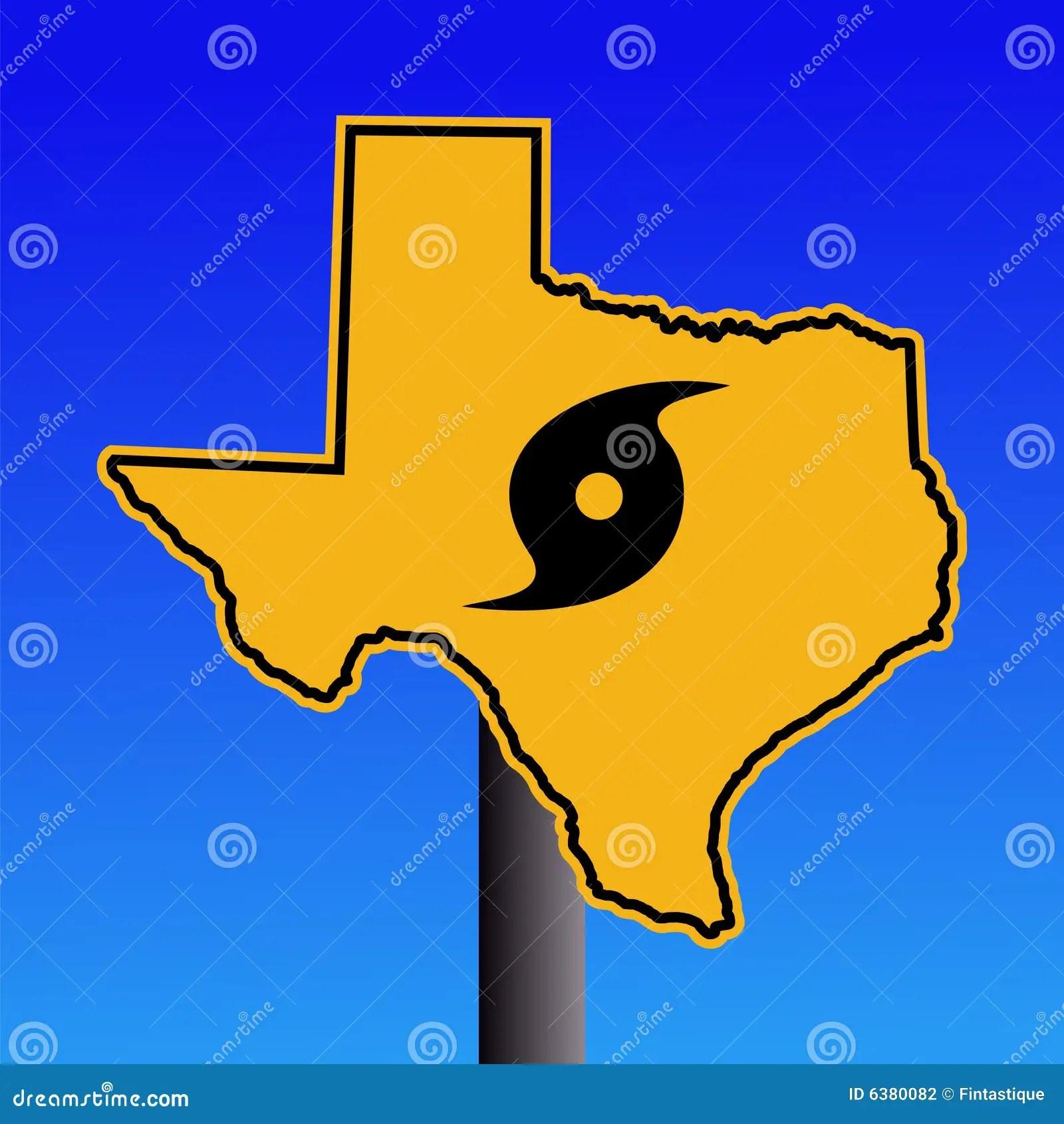 Texas Hurricane Warning Sign Stock Vector