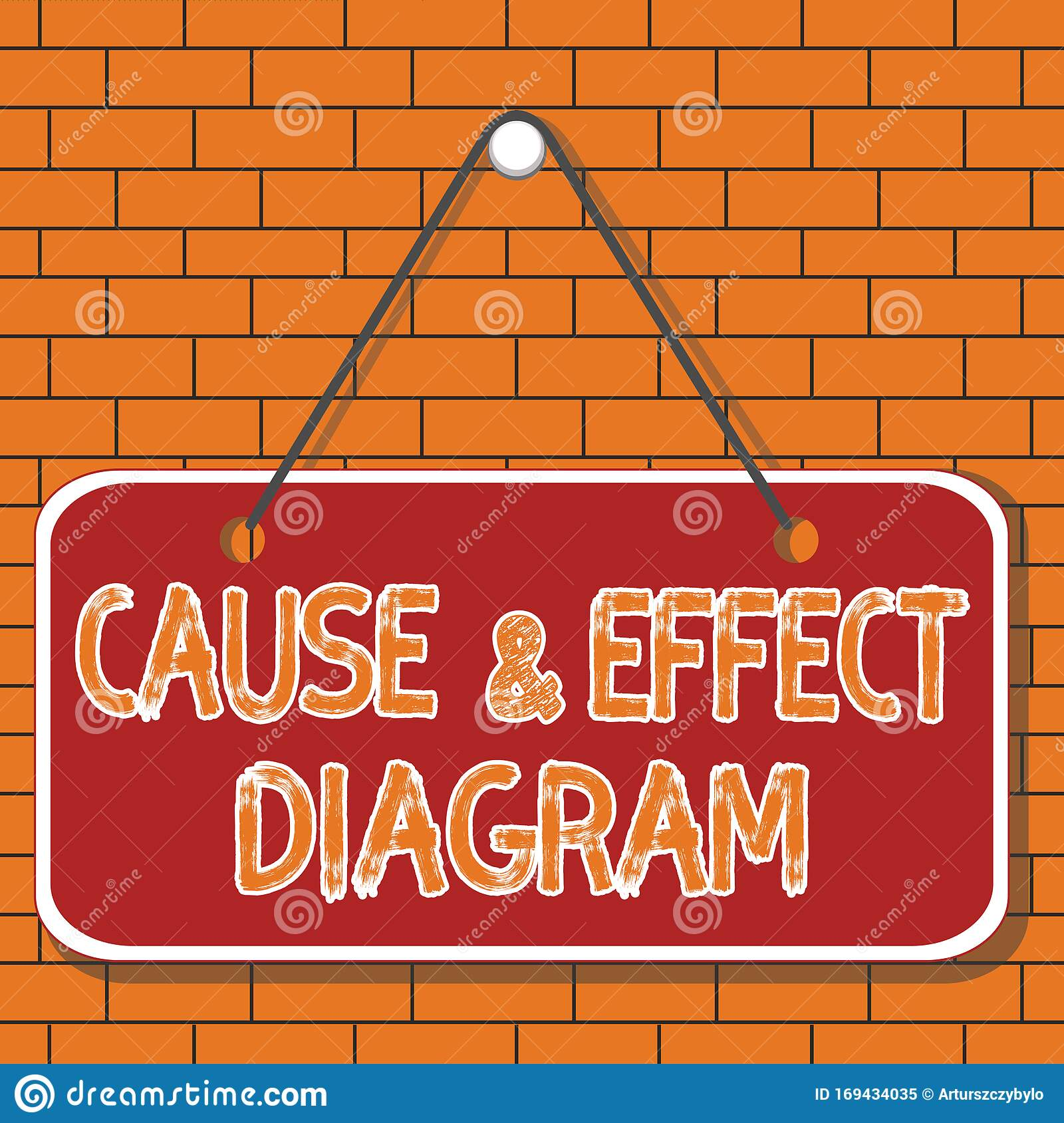 Text Sign Showing Cause And Effect Diagram Conceptual