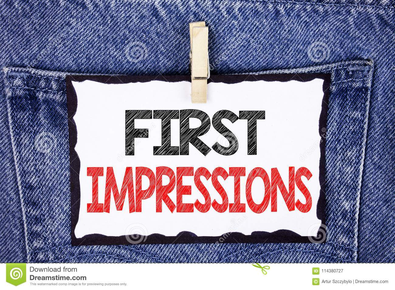 Text Sign Showing First Impressions Conceptual Photo