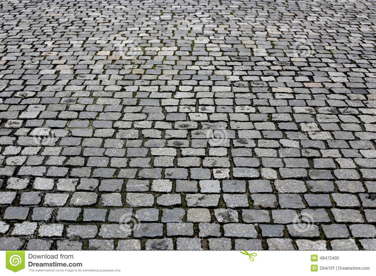 Texture paved road stock photo Image of cobble block