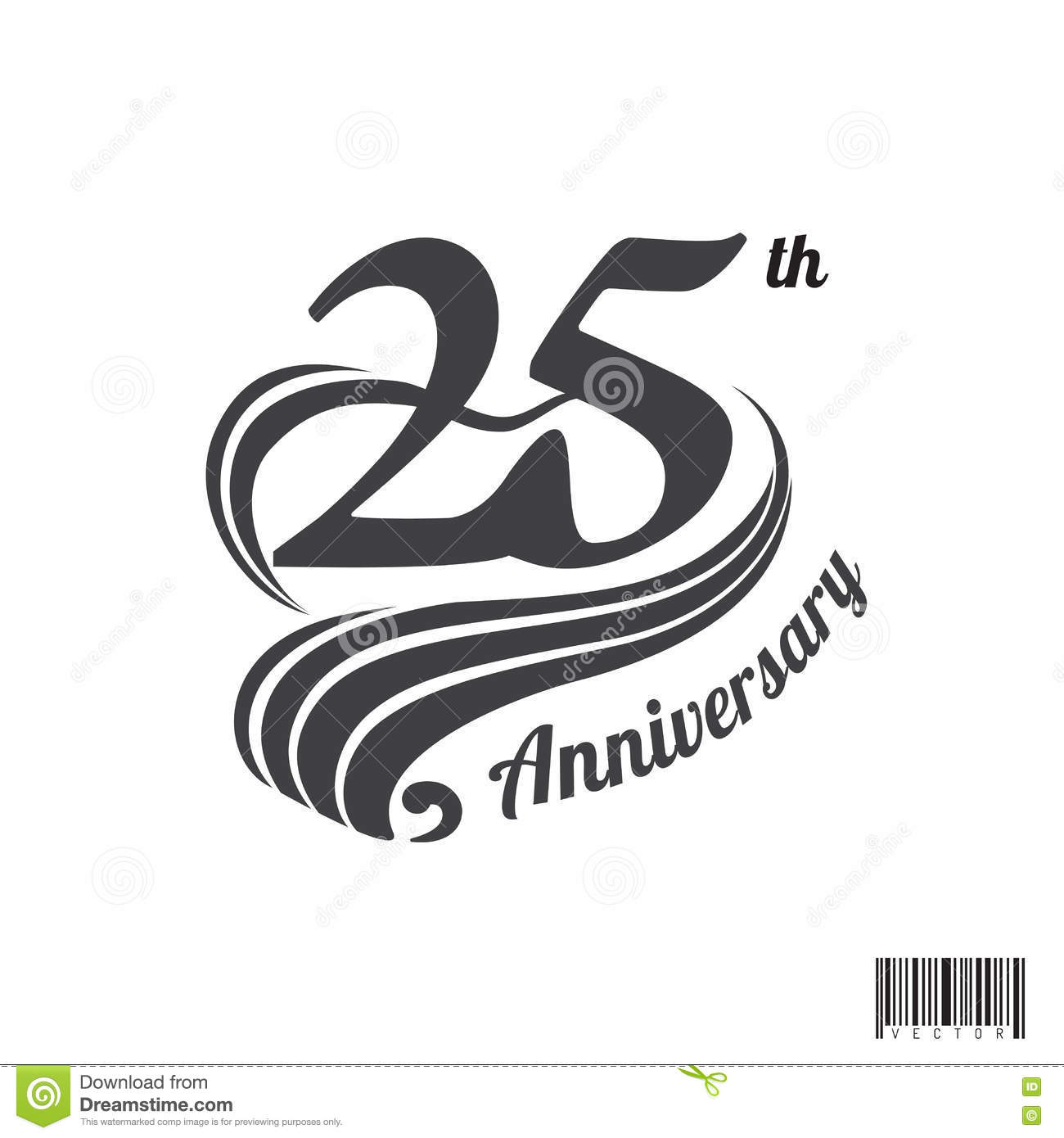 25 th anniversary logo