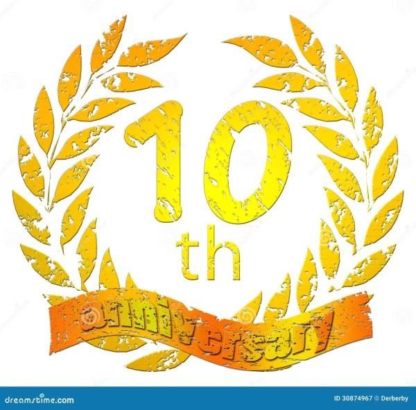 free clip art 10th anniversary