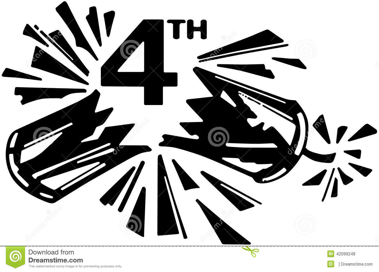 4th Firecracker Stock Vector
