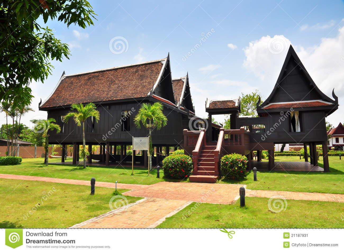 S stock thai house traditional style