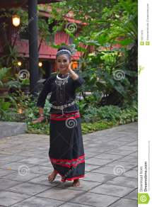 Thai Lady In Traditional Costume Folklore Dance