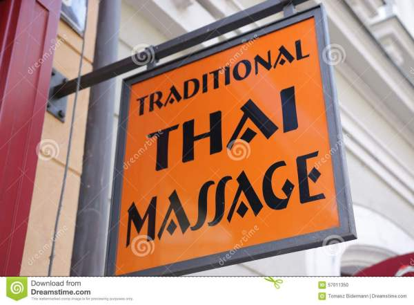 Thai Massage Stock Of Sign Club Therapy - 57011350