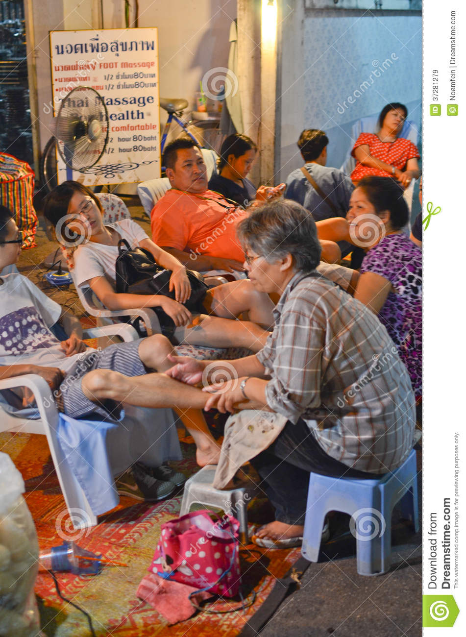 Thai Massage in Thailand editorial stock image Image of