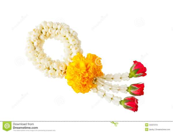 Thai style flower garland stock photo Image of flower