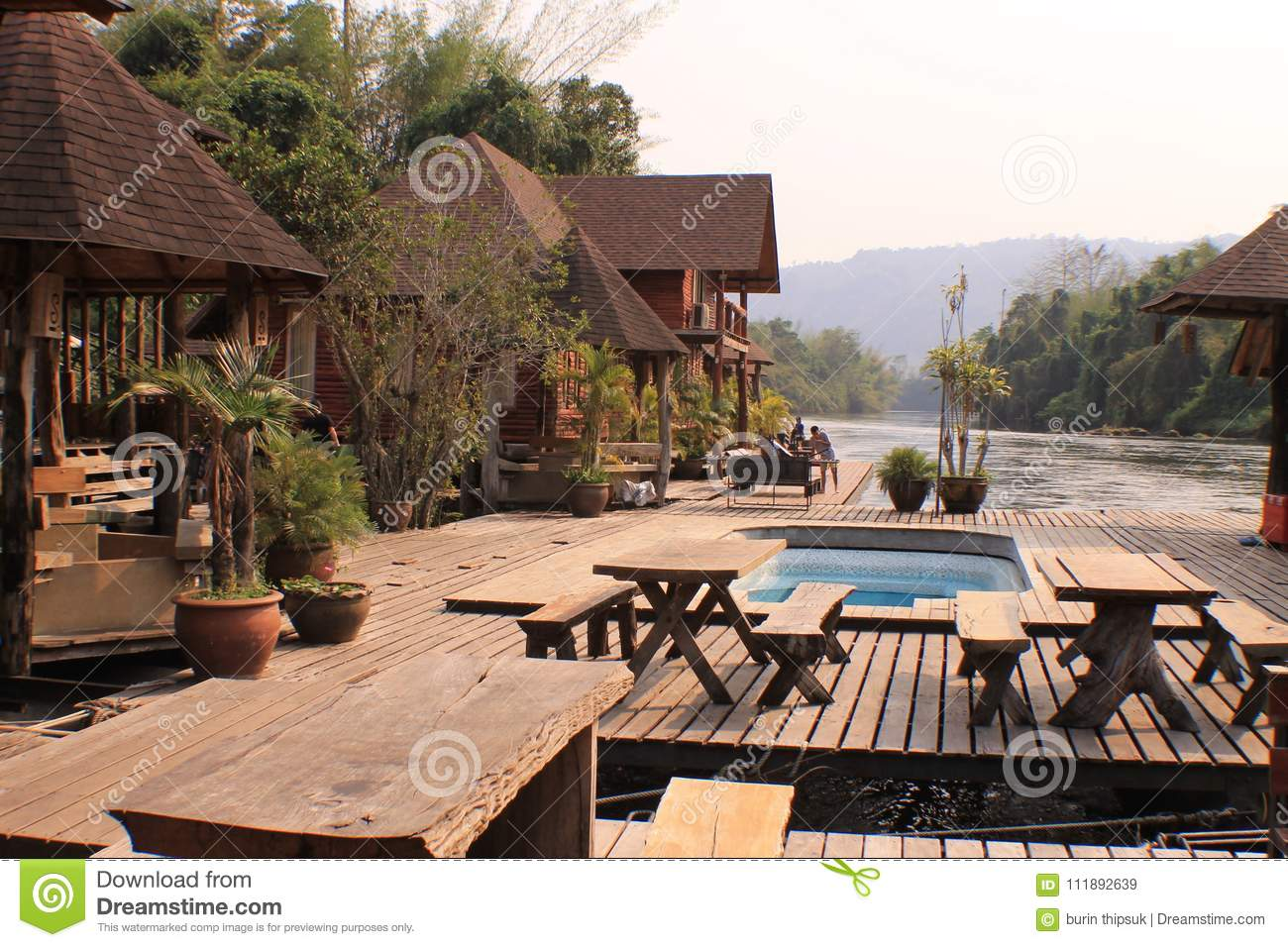 Thailand Nice Vintage Pool Villa View Stock Image Image Of