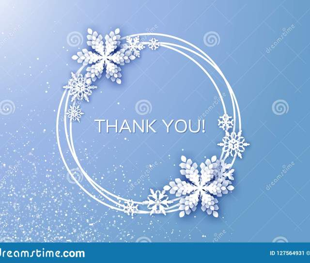 Thank You Card Merry Christmas And Happy New Year Greetings Card White Paper Cut