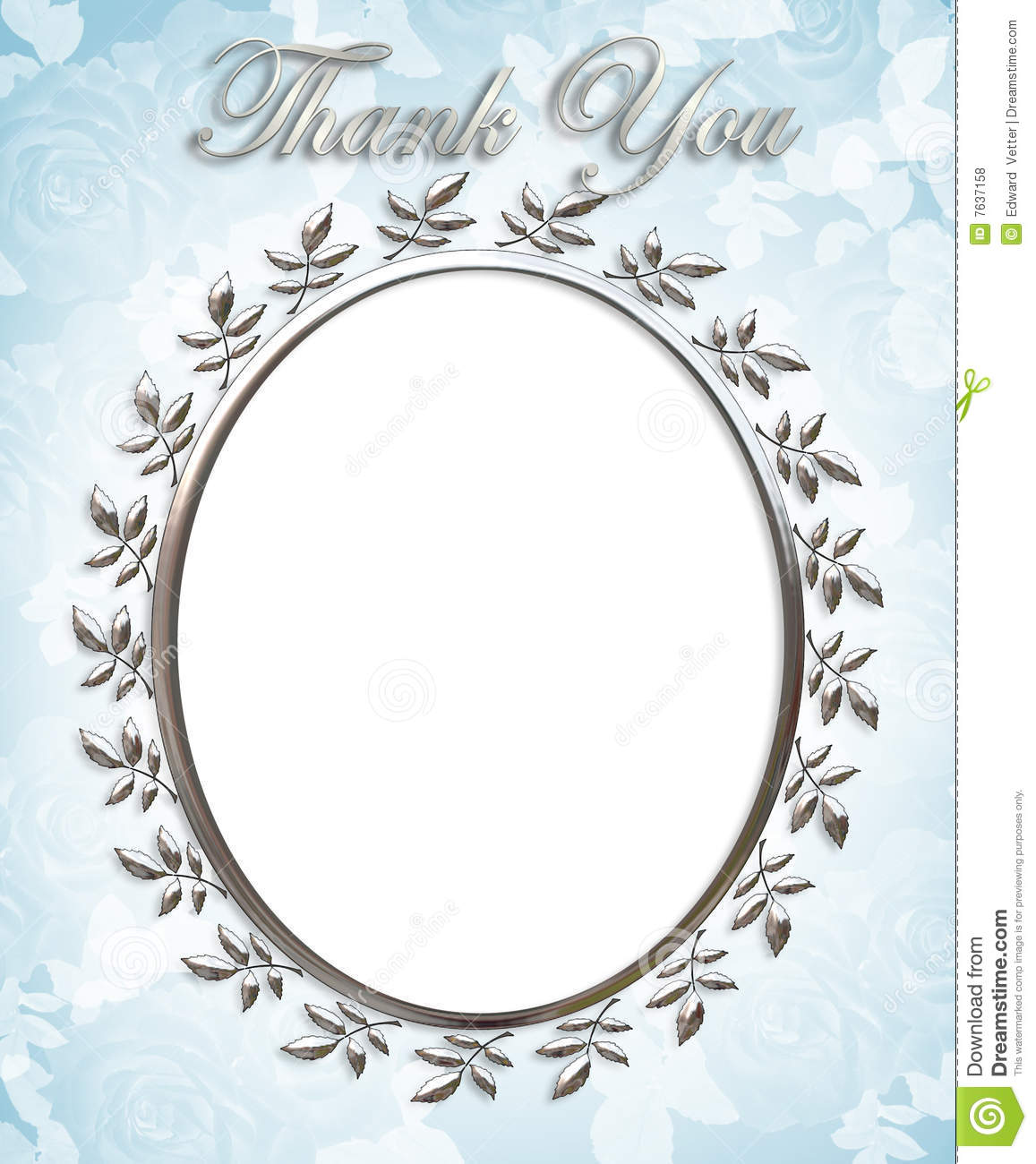 Thank You Card Wedding Frame Stock Illustration Image