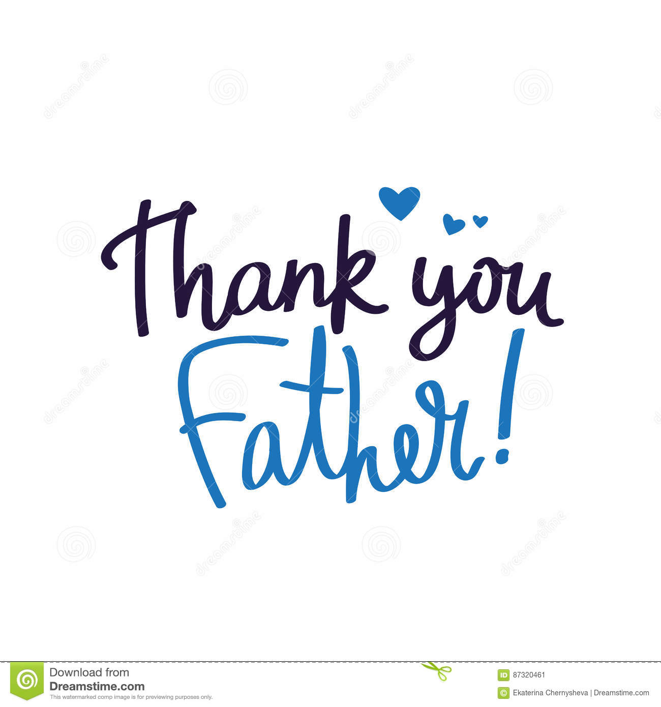 Thank You Dad Calligraphy Stock Vector Illustration Of