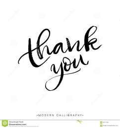 thank you modern brush calligraphy handwritten ink lettering  [ 1300 x 1390 Pixel ]