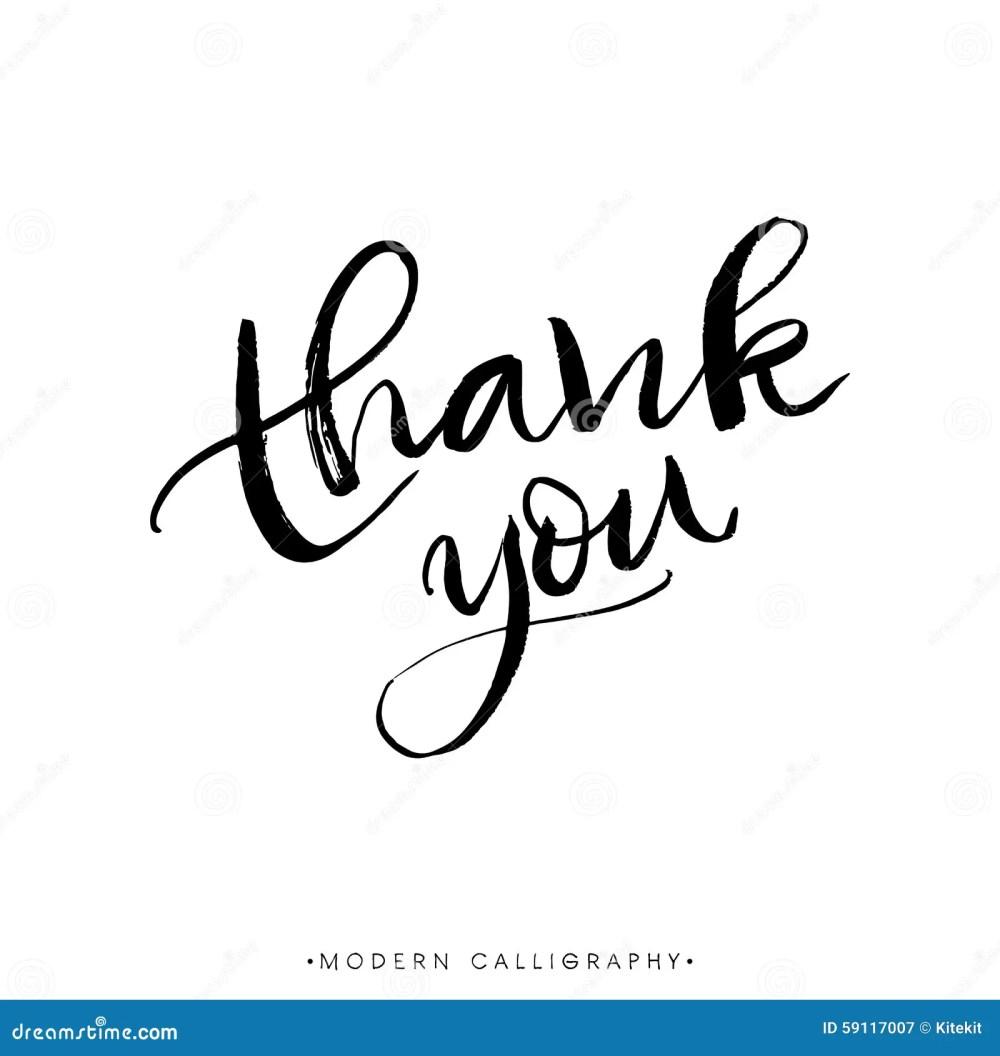 medium resolution of thank you modern brush calligraphy handwritten ink lettering