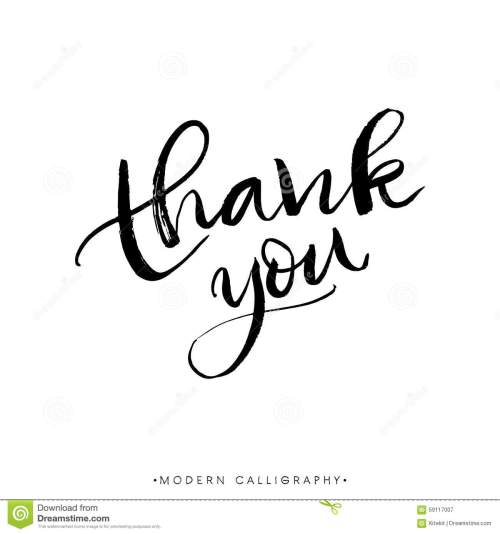 small resolution of thank you modern brush calligraphy handwritten ink lettering