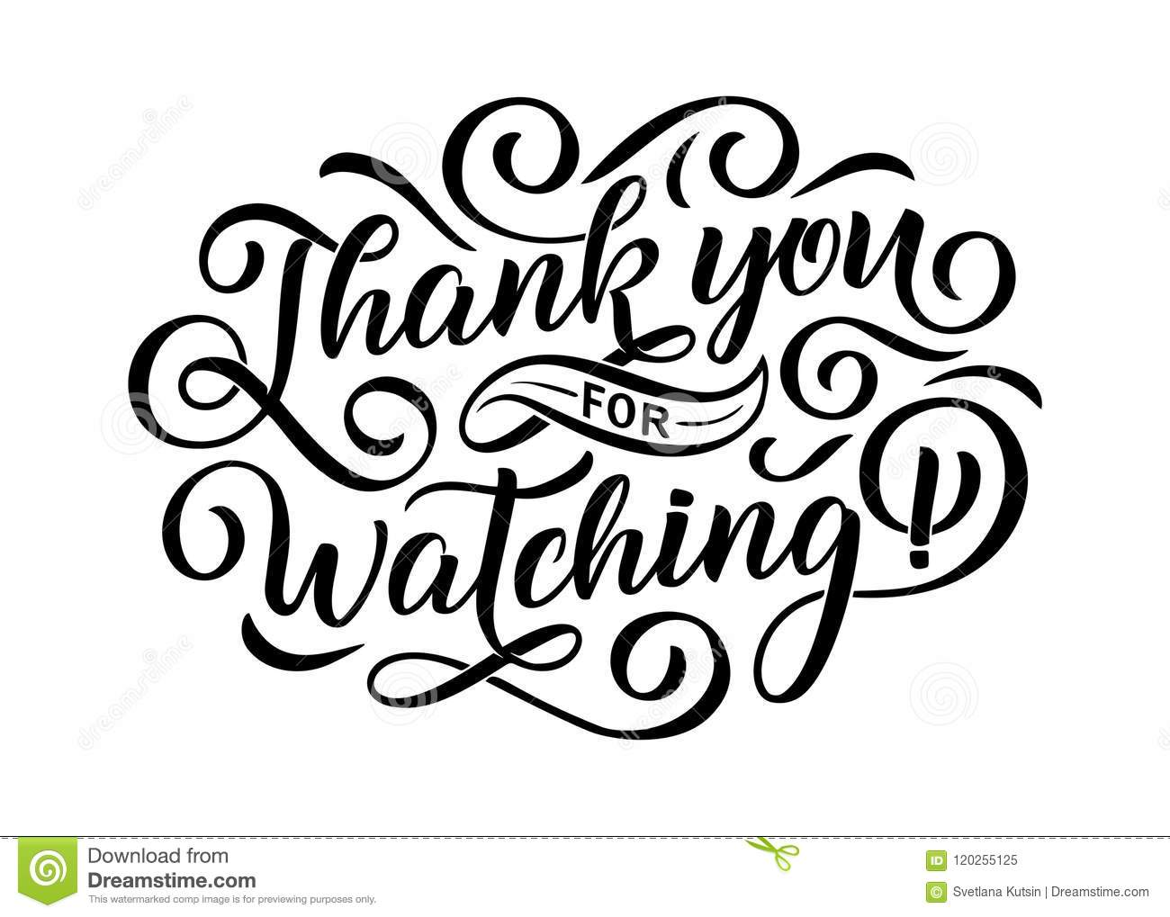 Thank You For Watching Cover Banner Template For Your