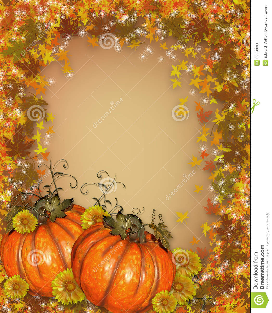 Fall Leaves Wallpaper Powerpoint Background Thanksgiving Autumn Fall Background Stock Illustration
