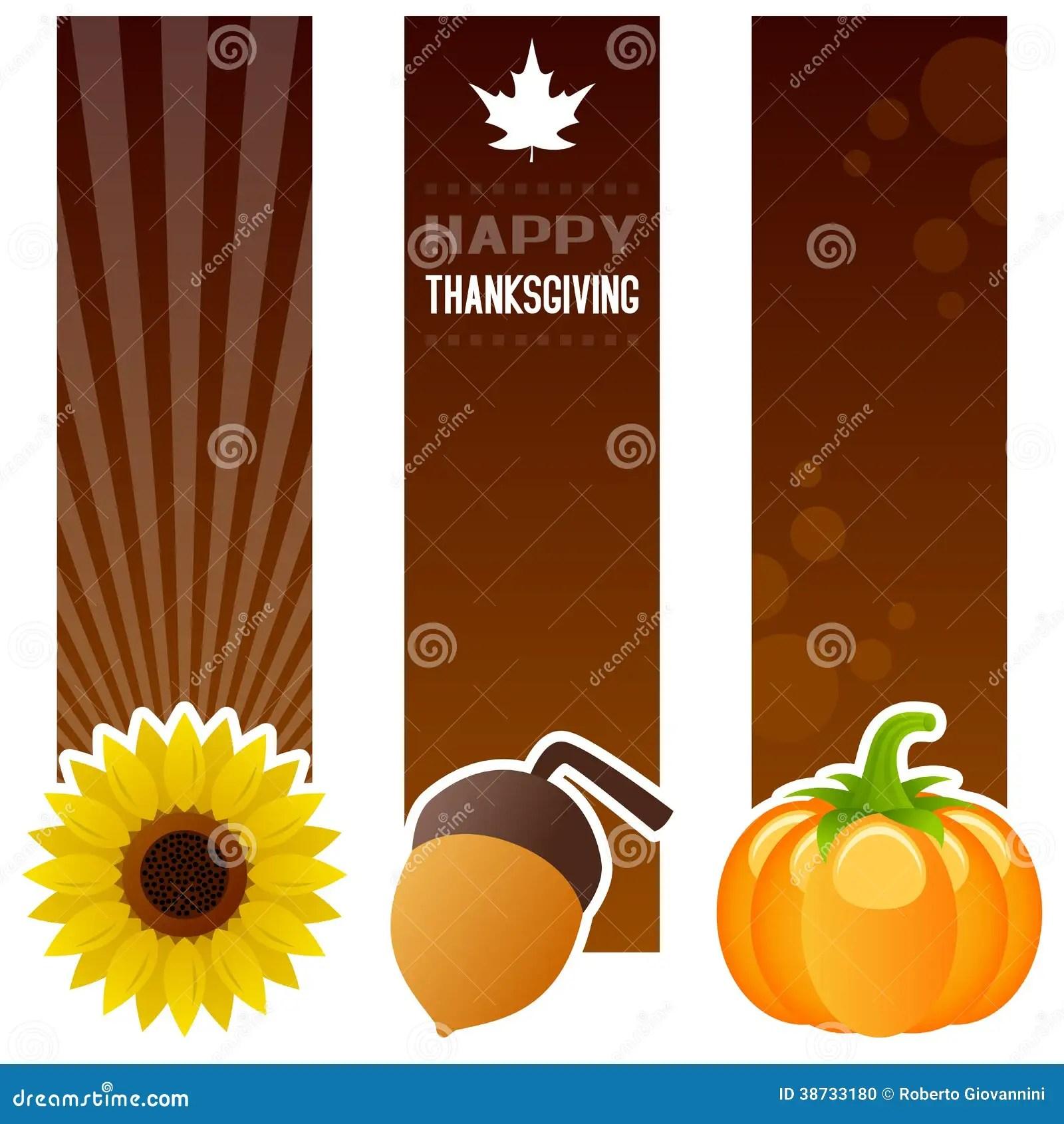 Fall Sunflower Wallpaper Thanksgiving Day Vertical Banners Stock Vector