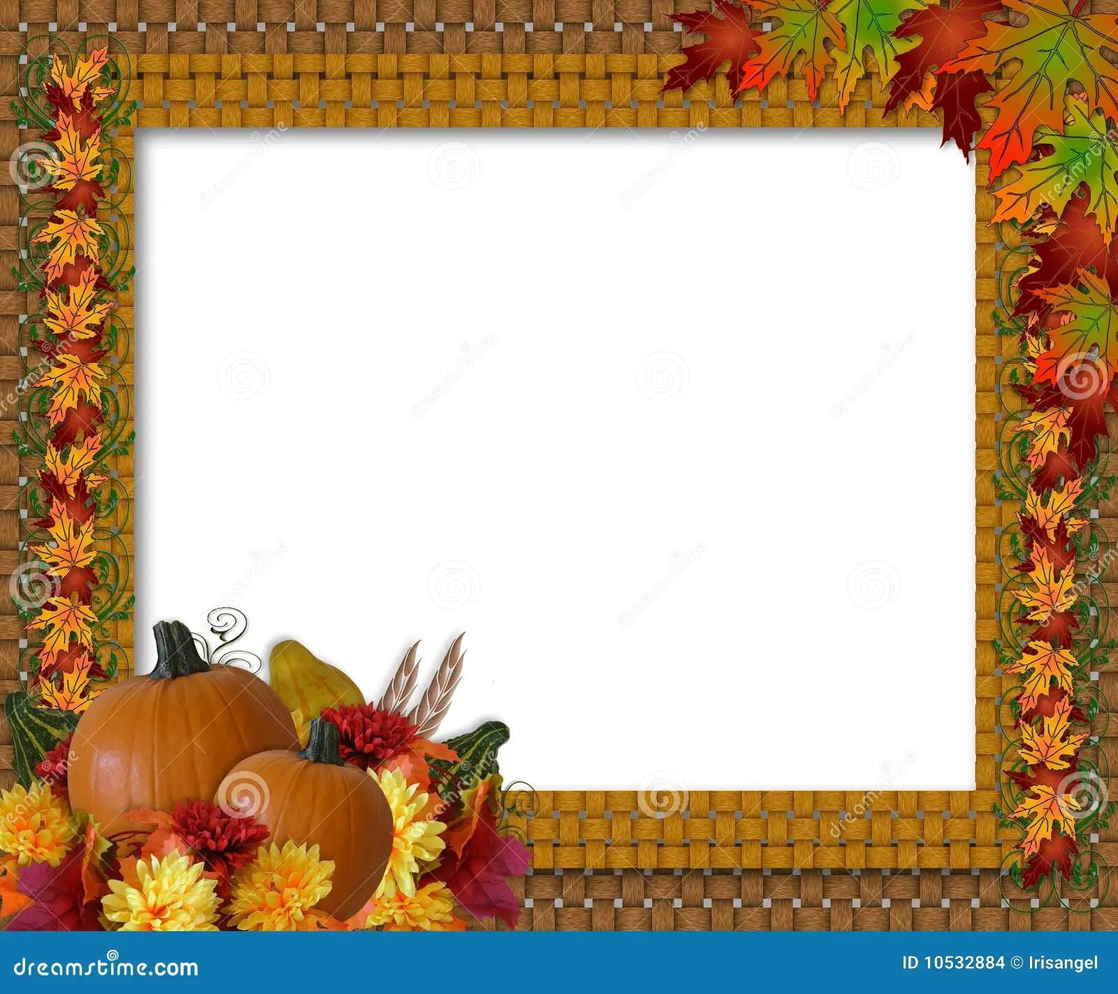 Design Love Fest Wallpaper Fall Thanksgiving Fall Autumn Border Stock Illustration