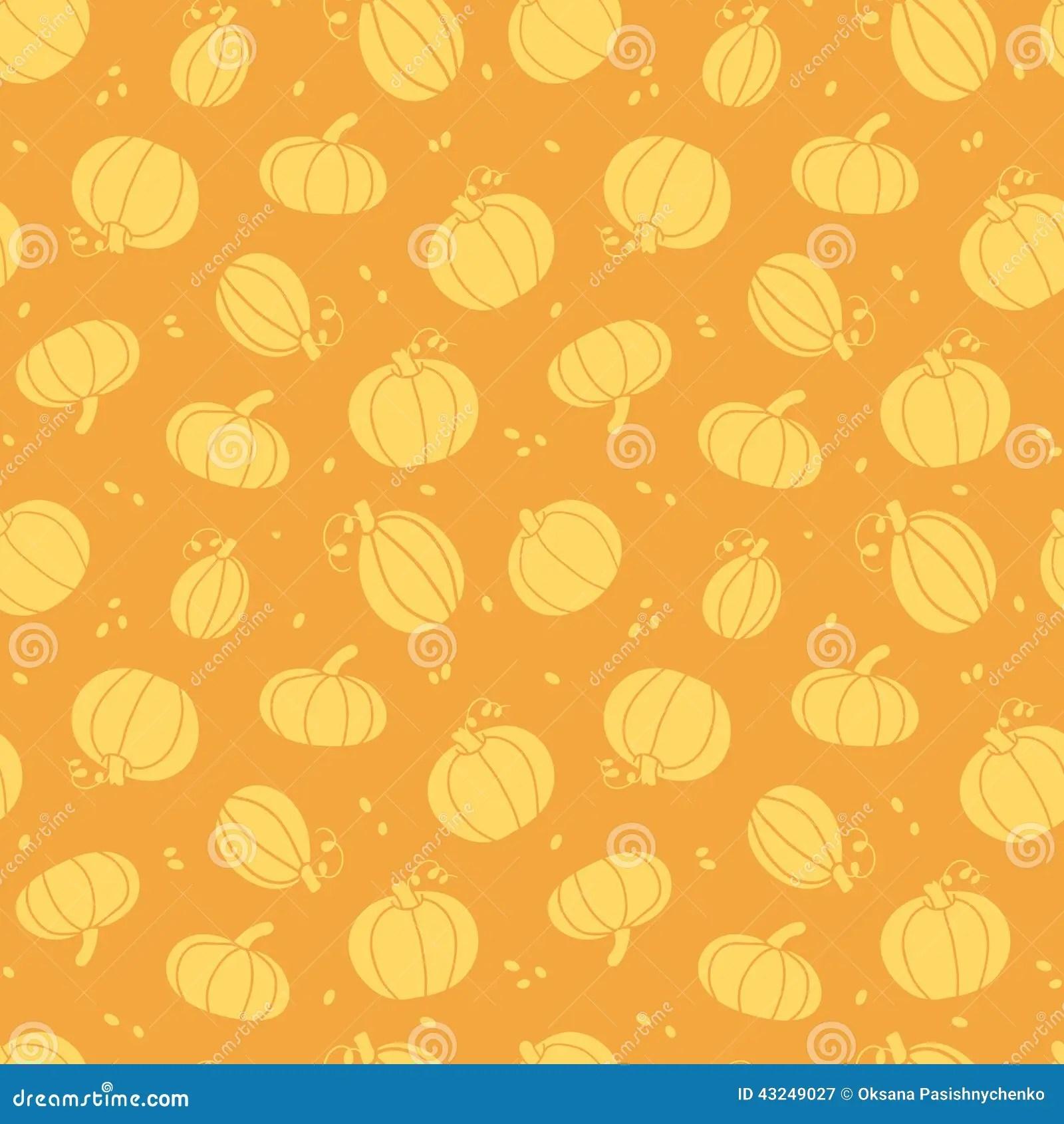 Fall Leaves Clip Art Wallpaper Thanksgiving Golden Pumpkins Seamless Pattern Stock Vector