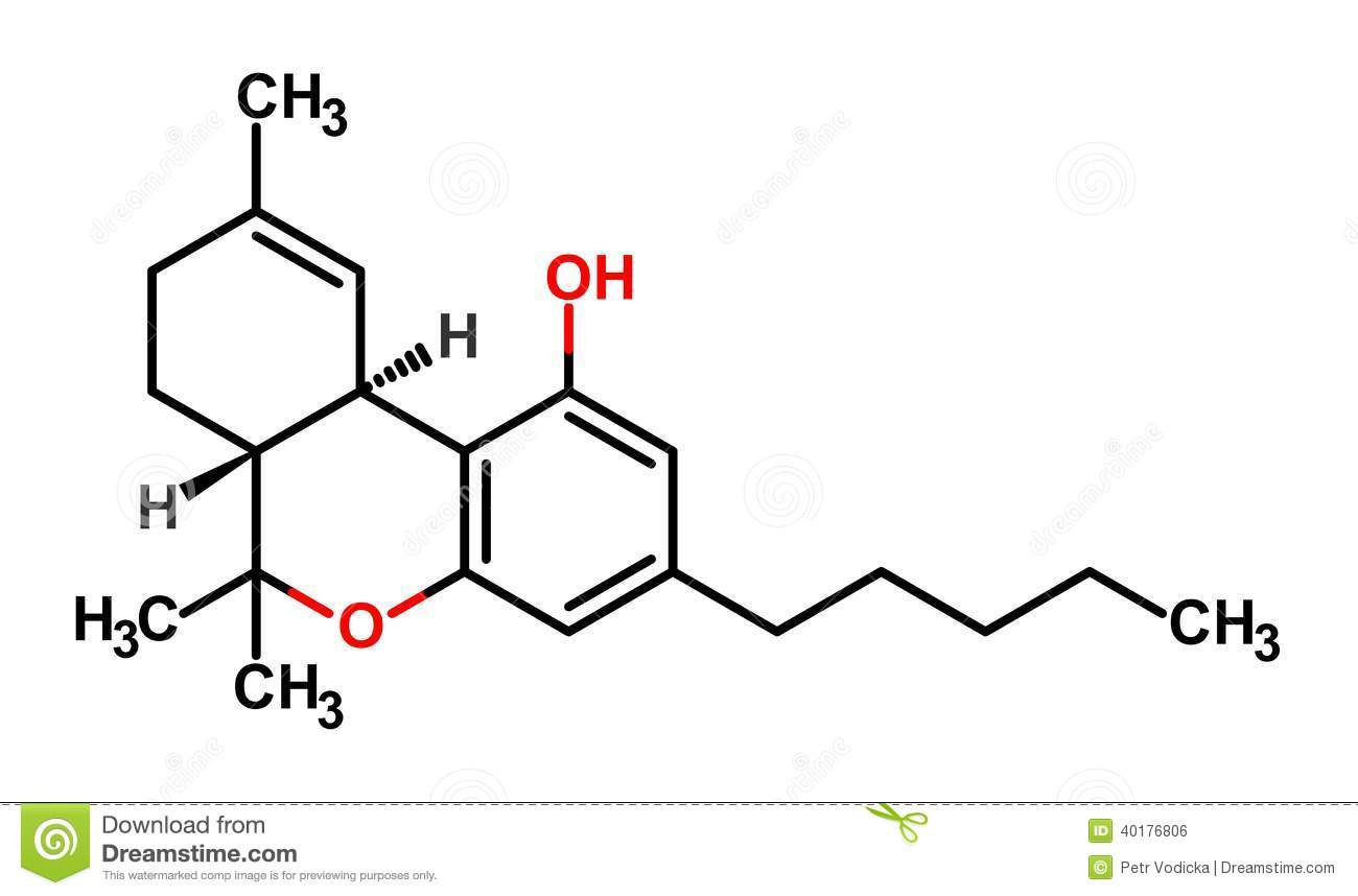 THC formula stock vector. Image of cannabis, dope, biology
